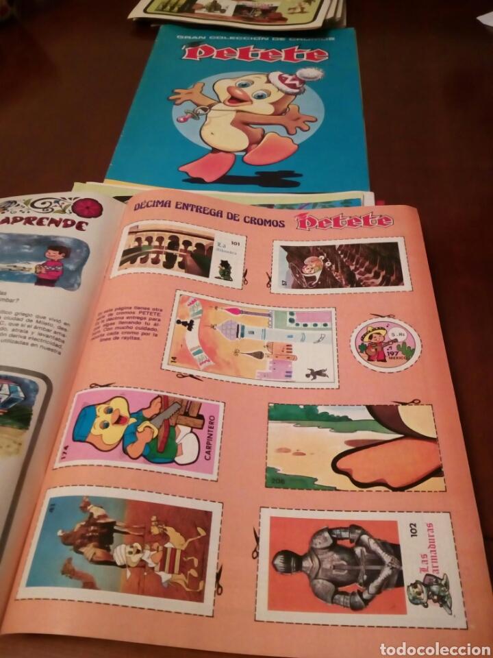 Coleccionismo Álbum: PETETE álbum completó cromos sin pegar con sus laminas sin recortar y revistas - Foto 55 - 119309728