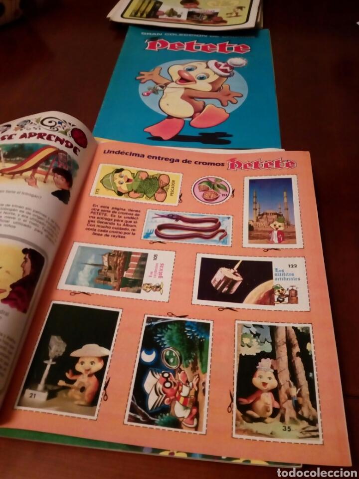 Coleccionismo Álbum: PETETE álbum completó cromos sin pegar con sus laminas sin recortar y revistas - Foto 59 - 119309728