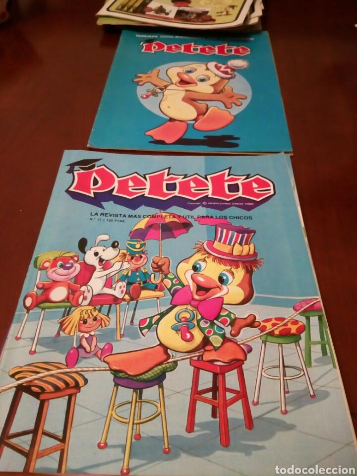 Coleccionismo Álbum: PETETE álbum completó cromos sin pegar con sus laminas sin recortar y revistas - Foto 60 - 119309728