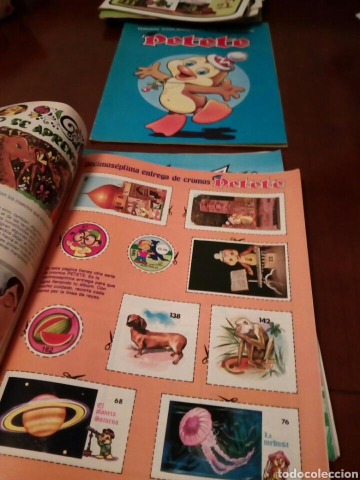 Coleccionismo Álbum: PETETE álbum completó cromos sin pegar con sus laminas sin recortar y revistas - Foto 62 - 119309728
