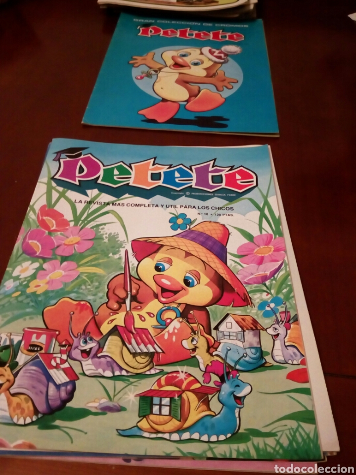 Coleccionismo Álbum: PETETE álbum completó cromos sin pegar con sus laminas sin recortar y revistas - Foto 64 - 119309728