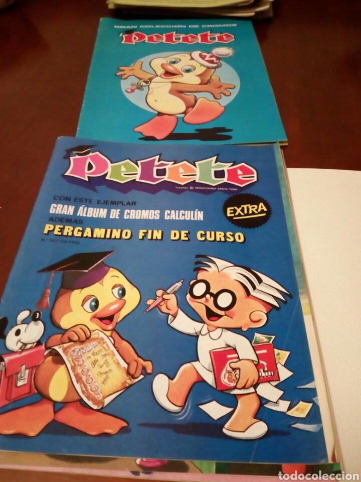 Coleccionismo Álbum: PETETE álbum completó cromos sin pegar con sus laminas sin recortar y revistas - Foto 72 - 119309728
