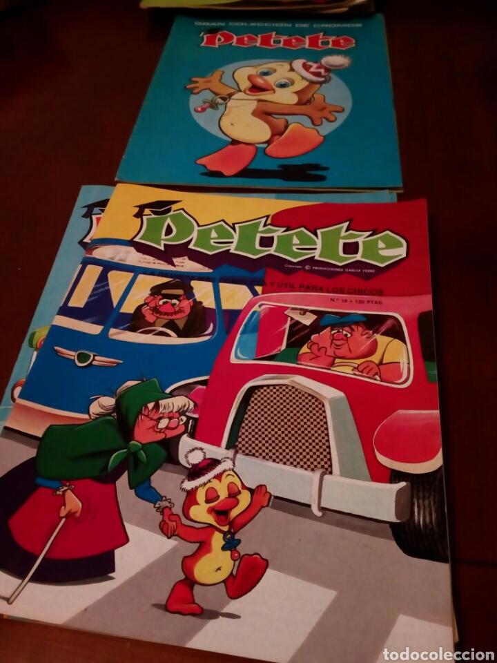 Coleccionismo Álbum: PETETE álbum completó cromos sin pegar con sus laminas sin recortar y revistas - Foto 79 - 119309728