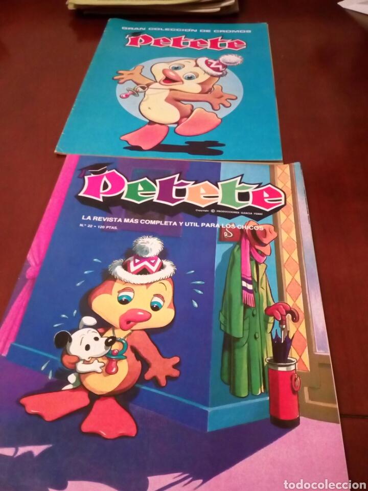 Coleccionismo Álbum: PETETE álbum completó cromos sin pegar con sus laminas sin recortar y revistas - Foto 82 - 119309728