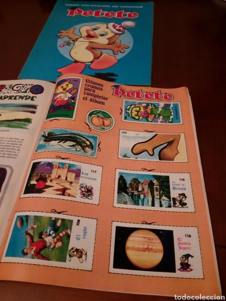 Coleccionismo Álbum: PETETE álbum completó cromos sin pegar con sus laminas sin recortar y revistas - Foto 88 - 119309728