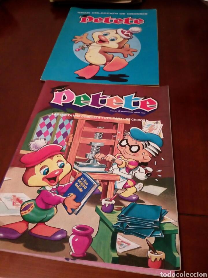 Coleccionismo Álbum: PETETE álbum completó cromos sin pegar con sus laminas sin recortar y revistas - Foto 101 - 119309728