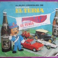 Coleccionismo Álbum: ALBUM CROMOS CERVEZAS EL TURIA, ALBUM OBSEQUIO, AUTOLANDIA, B. Lote 119630927