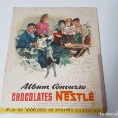 Coleccionismo Álbum: ALBUM CONCURSO CHOCOLATES NESTLÉ ( AÑO 1955 ). Lote 119635399