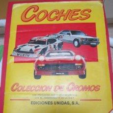 Coleccionismo Álbum: COCHES ,COLECCION DE CROMOS , MOTOR 16 , EDICIONES UNIDAS , COMPLETO , BUEN ESTADO. Lote 119954271