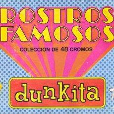 Coleccionismo Álbum: ALBUM CROMOS ROSTROS FAMOSOS,FORMATO REVISTA(LEER DESCRIPCION). Lote 140519330