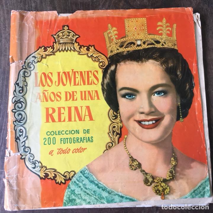 ÁLBUM DE CROMOS COMPLETO LOS AÑOS JÓVENES DE UNA REINA (Coleccionismo - Cromos y Álbumes - Álbumes Completos)