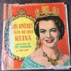 Coleccionismo Álbum: ÁLBUM DE CROMOS COMPLETO LOS AÑOS JÓVENES DE UNA REINA. Lote 120406951