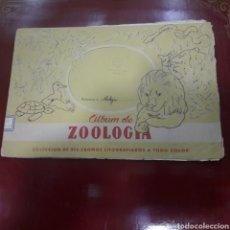 Coleccionismo Álbum: PRECIOSO ÁLBUM DE ZOOLOGÍA COMPLETO 216 CROMOS LITOGRAFIADOS CANTERO AÑOS 40. Lote 120685342