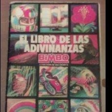 Coleccionismo Álbum: EL LIBRO DE LAS ADIVINANZAS BIMBO, ALBUM CROMOS COMPLETO.. Lote 121086592