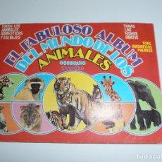 Coleccionismo Álbum: ALBUM DE CROMOS, EL FABULOSO MUNDO DE LOS ANIMALES, COMPLETO, BUEN ESTADO, OBSEQUIO REVISTA PRONTO. Lote 121114643