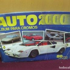 Coleccionismo Álbum: ALBUM PARA CROMOS COMPLETO. AUTO 2000. COMIC - ROMO, COLABORACION DE SOLO AUTO ACTUAL. . Lote 121139703