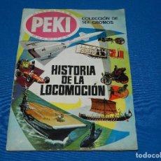 Coleccionismo Álbum: ALBUM COMPLETO - HISTORIA DE LA LOCOMOCION , BISCOTTES PEKI BARRITAS , EDT FERMA 1967. Lote 121161407