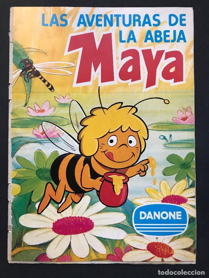 LAS AVENTURAS DE LA ABEJA MAYA - COLECCION DE 94 CROMOS - DANONE, AÑOS 1970 - COMPLETO (Coleccionismo - Cromos y Álbumes - Álbumes Completos)
