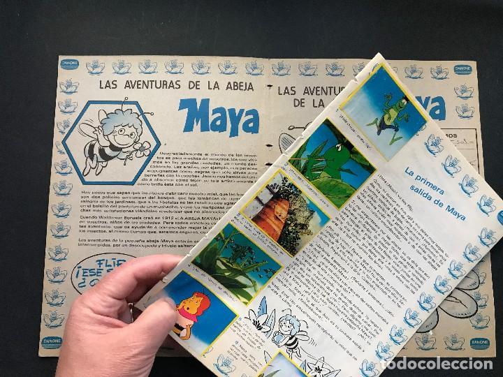 Coleccionismo Álbum: LAS AVENTURAS DE LA ABEJA MAYA - COLECCION DE 94 CROMOS - DANONE, AÑOS 1970 - COMPLETO - Foto 4 - 121248491