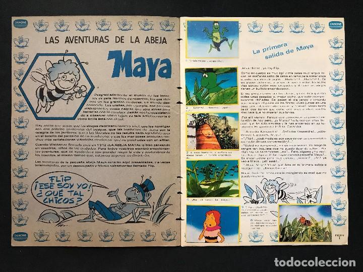 Coleccionismo Álbum: LAS AVENTURAS DE LA ABEJA MAYA - COLECCION DE 94 CROMOS - DANONE, AÑOS 1970 - COMPLETO - Foto 5 - 121248491