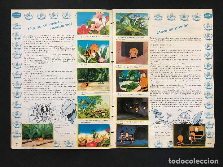Coleccionismo Álbum: LAS AVENTURAS DE LA ABEJA MAYA - COLECCION DE 94 CROMOS - DANONE, AÑOS 1970 - COMPLETO - Foto 6 - 121248491