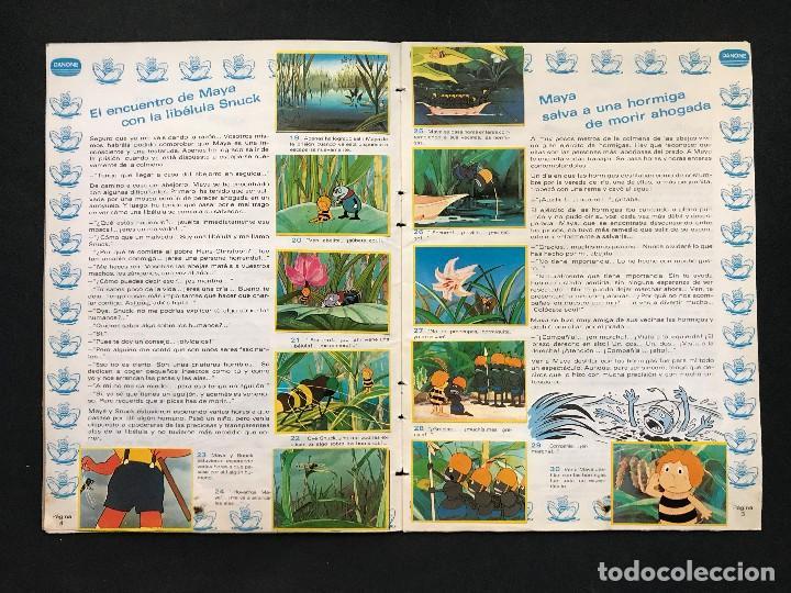 Coleccionismo Álbum: LAS AVENTURAS DE LA ABEJA MAYA - COLECCION DE 94 CROMOS - DANONE, AÑOS 1970 - COMPLETO - Foto 7 - 121248491