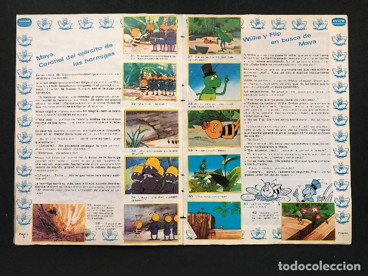Coleccionismo Álbum: LAS AVENTURAS DE LA ABEJA MAYA - COLECCION DE 94 CROMOS - DANONE, AÑOS 1970 - COMPLETO - Foto 8 - 121248491