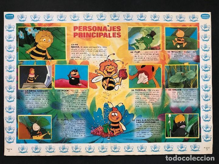 Coleccionismo Álbum: LAS AVENTURAS DE LA ABEJA MAYA - COLECCION DE 94 CROMOS - DANONE, AÑOS 1970 - COMPLETO - Foto 9 - 121248491