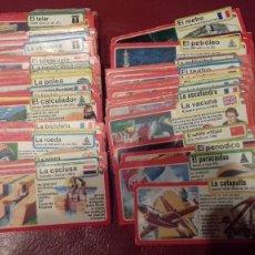 Coleccionismo Álbum: INVENTOS BIMBO CASI COMPLETA 95 FICHAS SIN CAJA ARCHIVADOR. Lote 121438947