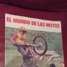Coleccionismo Álbum: ALBUM EL MUNDO DE LAS MOTOS BIMBO CASI COMPLETO CON CARTA DE PRESENTACION. Lote 121804523