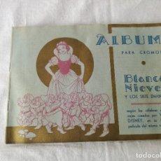 Coleccionismo Álbum: ALBUM ANTIGUO DE BLANCANIEVES. COMPLETO.. Lote 121906471