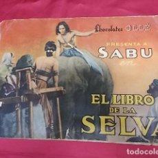Coleccionismo Álbum: ALBUM DE CROMOS COMPLETO. SABU EN EL LIBRO DE LA SELVA. CHOCOLATES OLLÉ. Lote 121933507