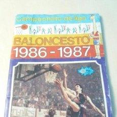 Coleccionismo Álbum: ÁLBUM DE CROMOS BALONCESTO 1986 1987 EDITORIAL J.MERCHANTE COMPLETO CON MICHAEL JORDAN. Lote 132976147