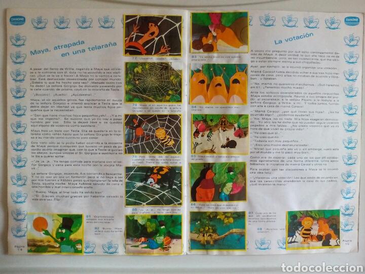 Coleccionismo Álbum: ÁLBUM COMPLETO LA ABEJA MAYA DANONE 1977 - Foto 6 - 123041536