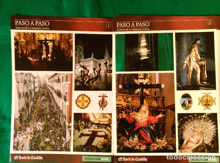 ALBUM DE LA SEMANA SANTA DE VALLADOLID PASO A PASO - EXCELENTE - COMPLETO - NUEVO - CROMOS SIN PEGAR (Coleccionismo - Cromos y Álbumes - Álbumes Completos)
