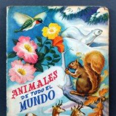 Coleccionismo Álbum: ANIMALES DE TODO EL MUNDO EDITORIAL FHER ÁLBUM COMPLETO 1957. Lote 123348579