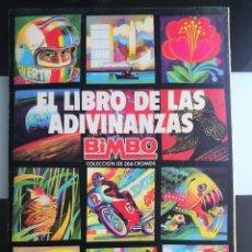 Coleccionismo Álbum: ALBUM EL LIBRO DE LAS ADIVINANZAS BIMBO NO BOLLYCAO PANRICO. Lote 124233027