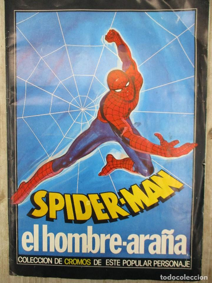 ALBUM CROMOS COMPLETO ORIGINAL SPIDERMAN EL HOMBRE ARAÑA (Collectable Paper - Stickers and Sticker Albums - Complete Sticker Albums)