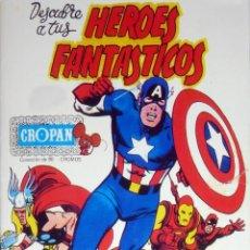 Coleccionismo Álbum: ALBUM CROMOS FASCIMIL,HEROES FANTASTICOS CROPAN,FORMATO REVISTA(LEER DESCRIPCION). Lote 126068822