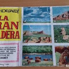 Coleccionismo Álbum: ALBUM LA GRAN PRADERA Y EL DESIERTO VIVIENTE DISNEY CLIPER CASI COMPLETO MAS SOBRE VACIO. Lote 125845427