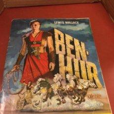 Coleccionismo Álbum: BEN HUR - PRIMERA EDICION - 1960 - EDITORIAL BRUGUERA. FALTA 1 CROMO. ALBUM DE CROMOS CASI COMPLETO. Lote 126048463