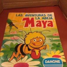 Coleccionismo Álbum: LAS AVENTURAS LA ABEJA MAYA - DANONE - ALBUM DE CROMOS COMPLETO. Lote 126049387