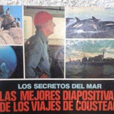 Collezionismo Álbum: LOS SECRETOS DEL MAR - LAS MEJORES DIAPOSITIVAS DE LOS VIAJES DE COUSTEAU - ÁLBUM - COMPLETO. Lote 126372502
