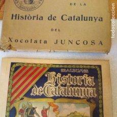 Coleccionismo Álbum: (EXCEPCIONAL) HISTORIA DE CATALUNYA ÁLBUM COMPLETO Y CON FUNDA ORIGINAL CHOCOLATES XOCOLATA JUNCOSA. Lote 127108939