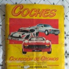 Coleccionismo Álbum: ÁLBUM CROMOS DE COCHES - 100% COMPLETO MOTOR 16 EDICIONES UNIDAS 1986. Lote 127190883