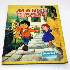 Coleccionismo Álbum: MARCO, DE LOS APENINOS A LOS ANDES - DANONE - ALBUM CROMOS COMPLETO. Lote 127678775