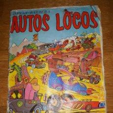 Coleccionismo Álbum: ALBUM AUTOS LOCOS HANNA BARBERA FHER COMPLETO. Lote 128068047