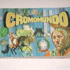 Coleccionismo Álbum: ALBUM CROMOMUNDO - EDITORIAL ALMEX 1968 - 100% COMPLETO. Lote 128283944
