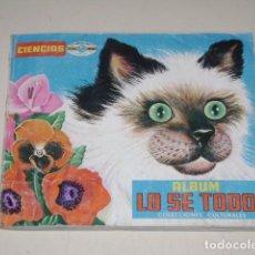 Coleccionismo Álbum: ALBUM LO SE TODO - EDITORIAL NAVARRETE 1969 - 100% COMPLETO. Lote 128300807