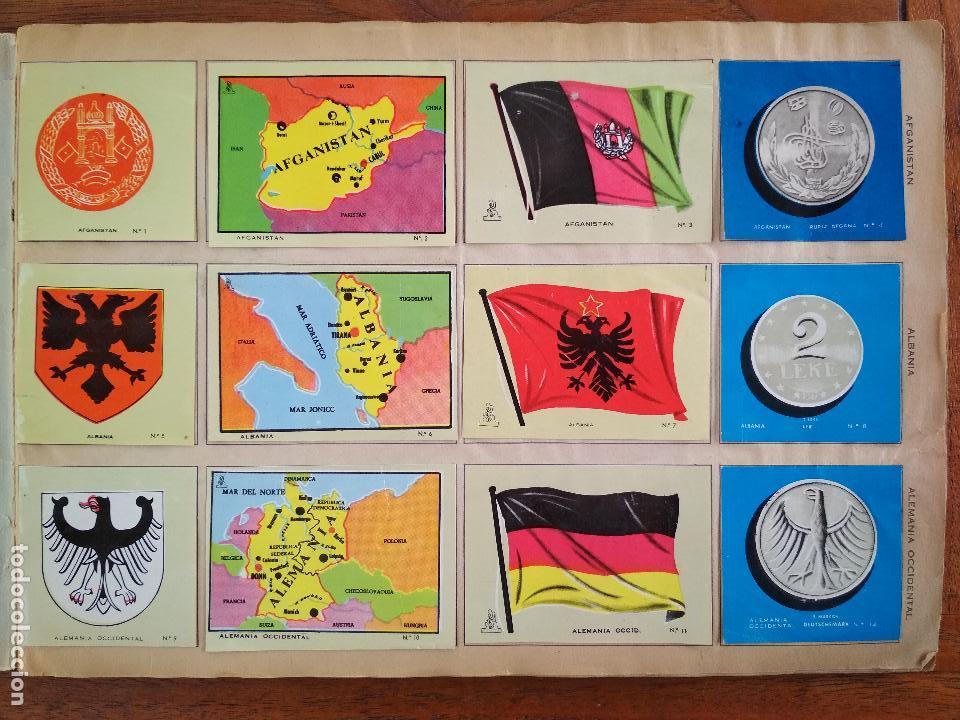 Coleccionismo Álbum: COLECCION UNIVERSAL, LIBRO DE BANDERAS, ESCUDOS, MONEDAS, MAPAS, DISTRIBUIDORA ALES, AÑO 1962 - Foto 2 - 128330971